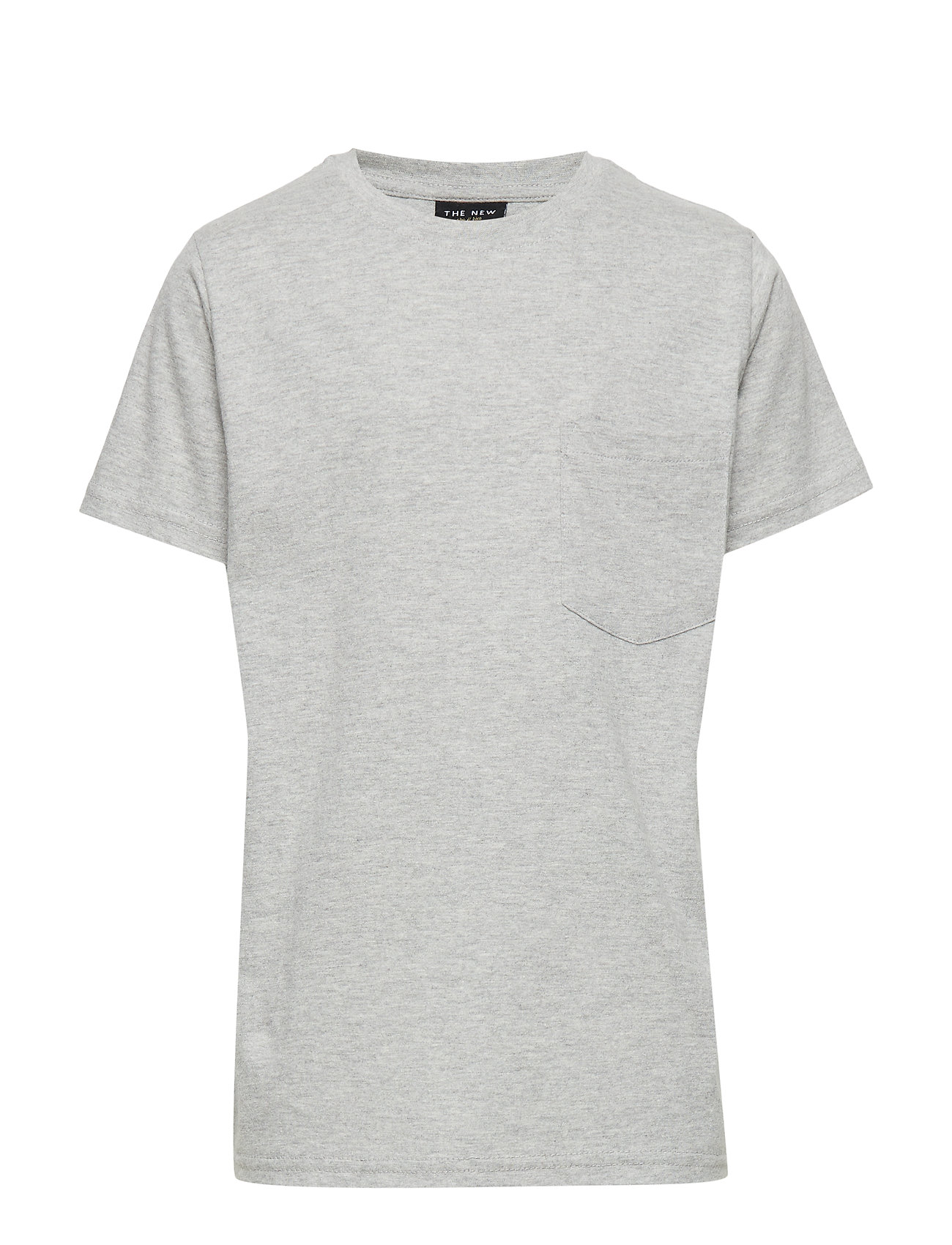 The New THE NEW ECO S_S TEE - LIGHT GREY MELANGE