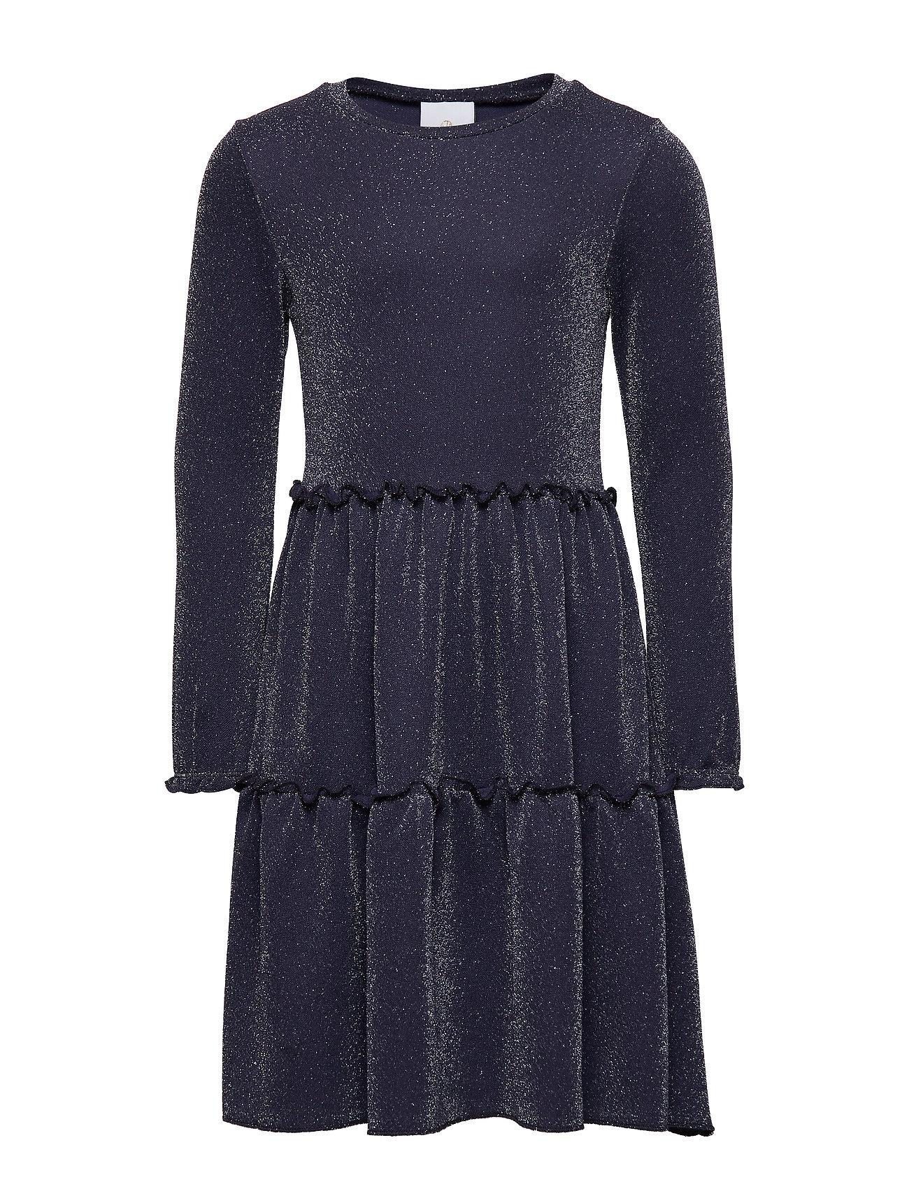 The New ZIMI L_S GLITTER DRESS - BLACK IRIS