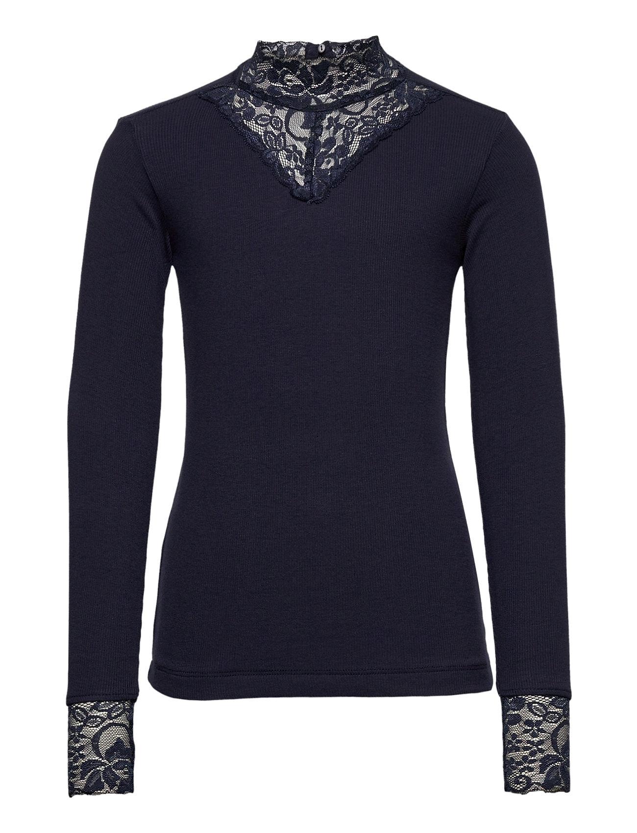 Image of Olace L_s Tee Langærmet T-shirt Blå The New (3454944039)