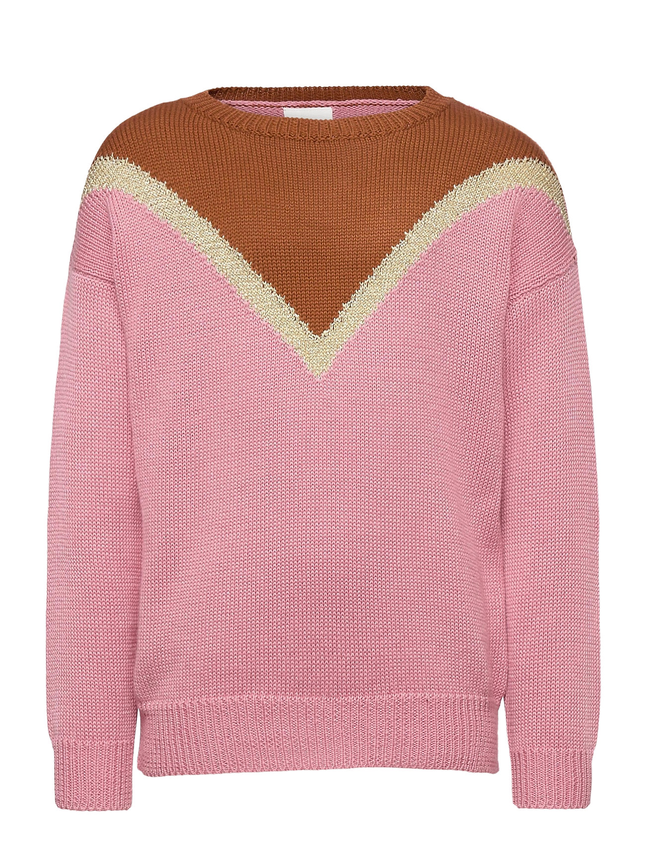 Image of Ratina Knit Pullover Pullover Striktrøje Lyserød The New (3440210421)