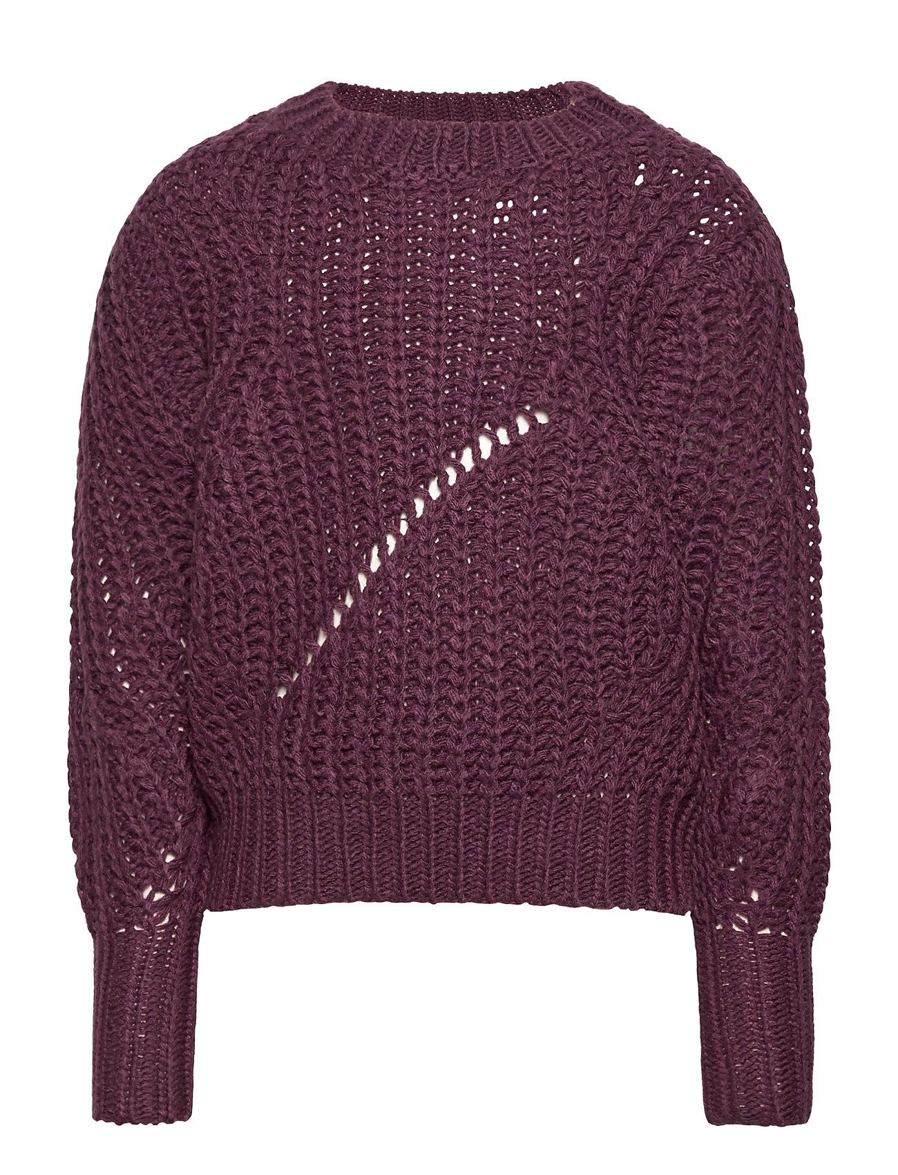 Image of Sharon Knit Pullover Pullover Striktrøje Lilla The New (3474793625)
