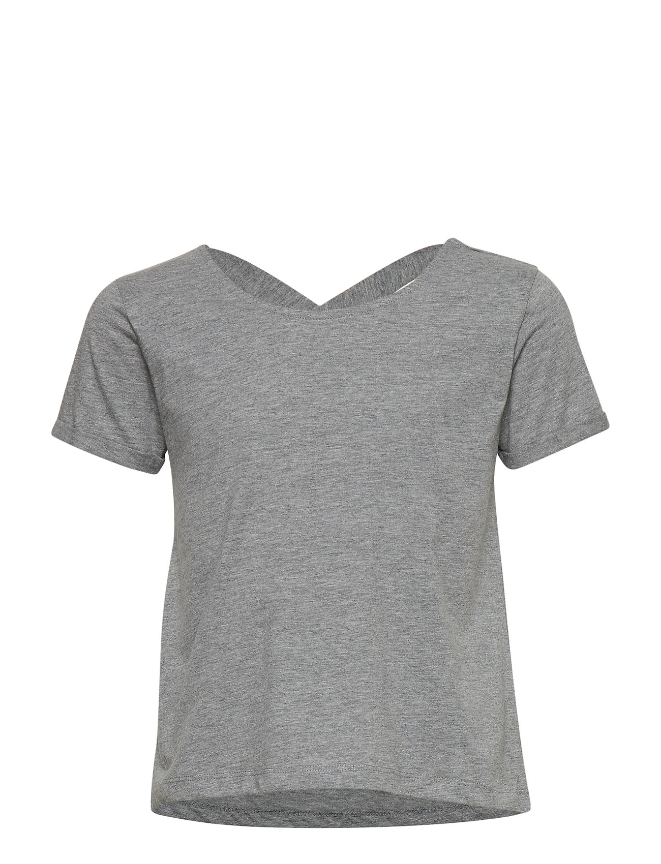 The New PURE LOOSE S_S TEE - LIGHT GREY MELANGE