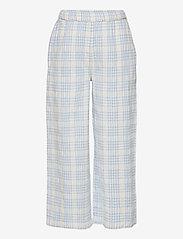 The New - TAMARA WIDE PANTS - trousers - brunnera blue - 0