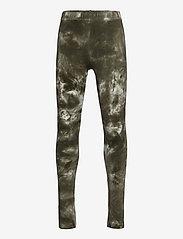 The New - ELSA TIE DYE LEGGINGS - leggings - deep lichen green - 0