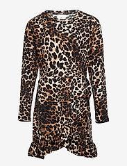 The New - PALEO L_S DRESS - kleider - brown leo - 0