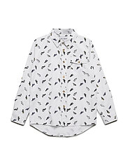GOOFY L_S SHIRT - BRIGHT WHITE
