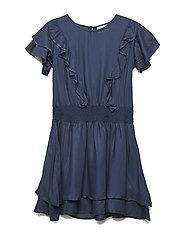 GERDIE S_S DRESS - BLACK IRIS