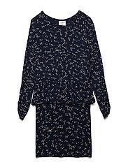 ISABELLA L_S DRESS - BLACK IRIS