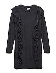 IDA L_S DRESS - BLACK IRIS