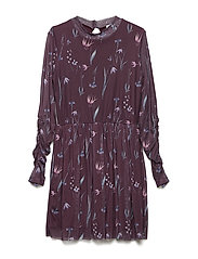 JASS L_S MESH DRESS - GRAPE WINE
