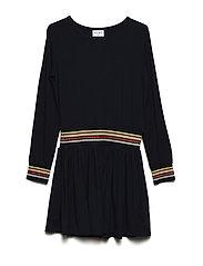 IRIANNA L_S DRESS EXP - BLACK IRIS
