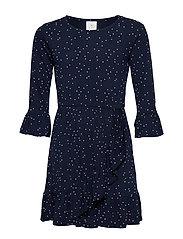 KISA FRILL DRESS - BLACK IRIS