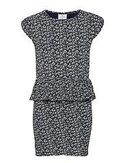 KARLA S_S DRESS - BLACK IRIS