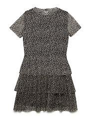 KLARA S_S MESH DRESS - LEOPARD