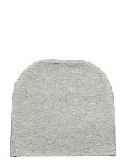 BEANIE JERSEY HAT - LIGHT GREY MELANGE