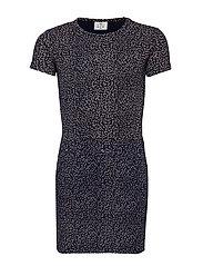 LOVISA S_S DRESS - BLACK IRIS