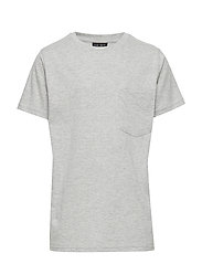 THE NEW ECO S_S TEE - LIGHT GREY MELANGE