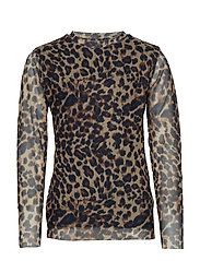 MARLEY SCHOOL L_S TOP - LEOPARD