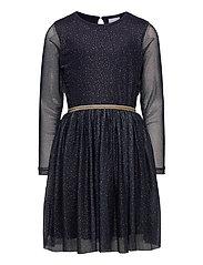 ANNA SYBIL MESH L_S DRESS - NAVY BLAZER