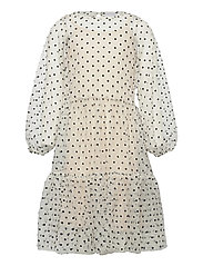 TWIST DRESS - WHITE SWAN
