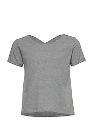 PURE LOOSE S_S TEE - LIGHT GREY MELANGE