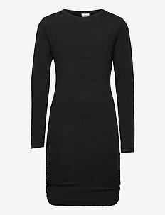 BASIC L_S DRESS NOOS SUSTAINABLE - kjoler - black