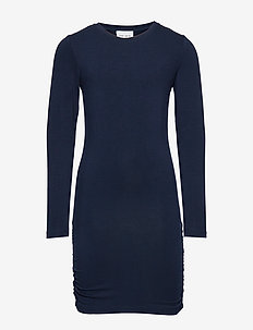 ANUKA L_S DRESS - dresses - black iris