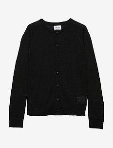 AYA GLITTER CARDIGAN - cardigans - black