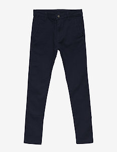 GUSTAVO CHINO COL - trousers - black iris