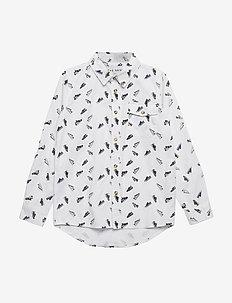GOOFY L_S SHIRT - overhemden - bright white