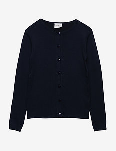 THE NEW BASIC KNIT CARDIGAN - BLACK IRIS