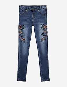 AGNES EMBROIDERY JEGGINGS - LIGHT BLUE DENIM