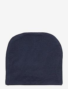 BEANIE JERSEY HAT - hatter - black iris