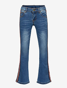 THE NEW FLARED JEANS WITH BAND - BLUE DENIM