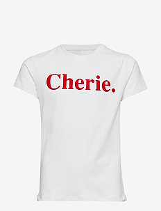 CHERIE S_S TEE - TRUE RED