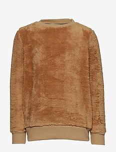 MINI TEDDY SCHOOL SWEATSHIRT - CAMEL