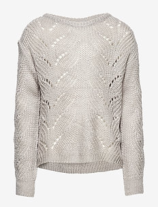 NIALA KNIT PULLOVER - LIGHT GREY MELANGE