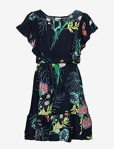 OHARA APRON DRESS - BLACK IRIS