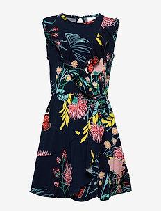 OLMA DRESS - BLACK IRIS