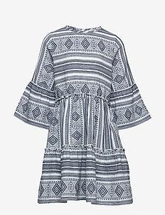 OCIE L_S DRESS - BLACK IRIS