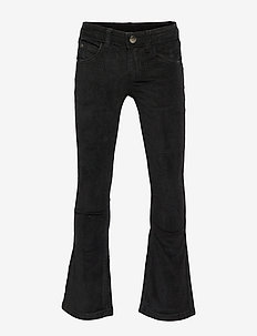 THE NEW FLARED CORD PANTS, BLACK - BLACK