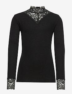 OLACE L_S TEE - langermede t-skjorter - black