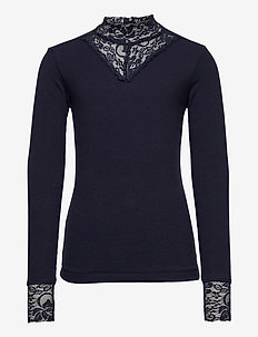 OLACE L_S TEE - langermede t-skjorter - navy blazer