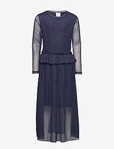 ODESSA L_S DRESS COL BLACK IRIS - robes - black iris