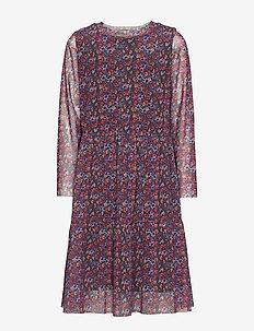 FATMA L_S MESH DRESS EXP - WINETASTING