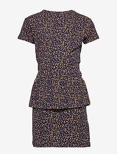 POLLY S_S DRESS - navy blazer