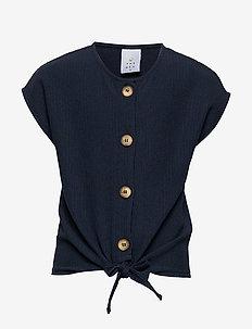 PAM S_S TOP - overhemden - navy blazer