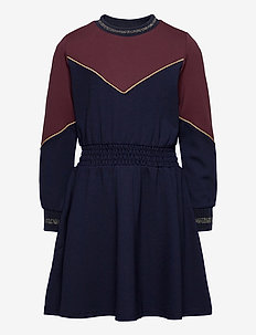 ROSA L_S DRESS - robes - navy blazer