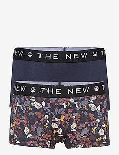 THE NEW HIPSTERS RIZLE AOP - shorts et pantalons - navy blazer