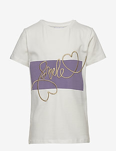 PARISIENNE S_S TEE - kortermede - cloud dancer